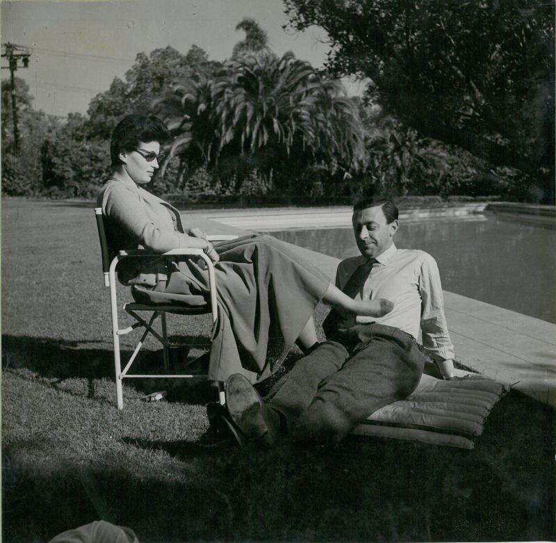 Silvana Mangano e Pilade Levi