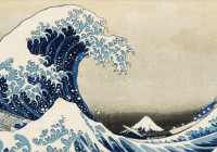 Under the wave off Kanagawa (The Great Wave) from Thirty-six views of Mt Fuji. Colour woodblock, 1831. Acquired with Art Fund Support.