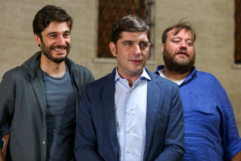 Lino Guanciale, Libero De Rienzo e Stefano Fresi