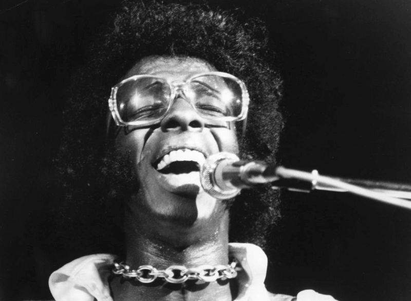 Sly Stone al Woodstock Festival, Bethel, New York, Agosto 1970 (Photo by Michael Ochs Archives/Getty Images)