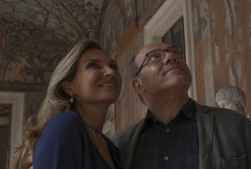 Maria Pia Calzone e Carlo Verdone