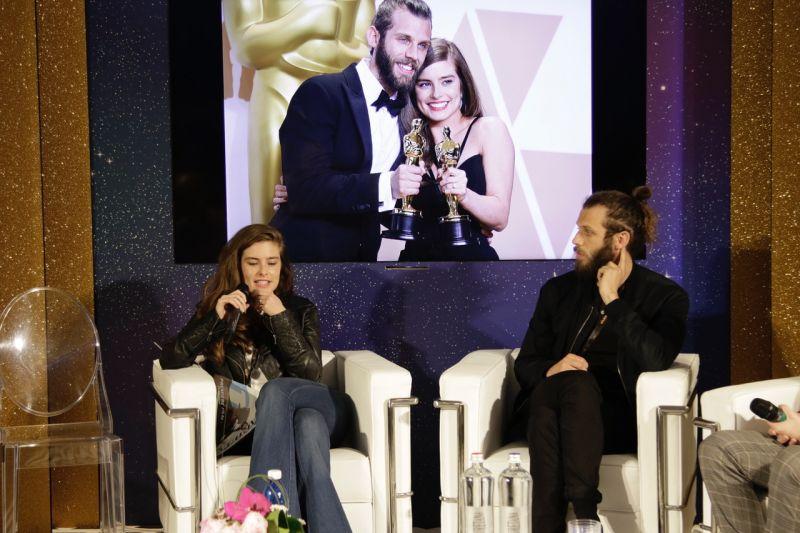 Rachel Shenton e Chris Overton alla presentazione di Premiere Film Platform