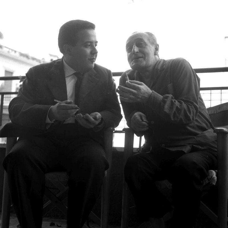 Maurizio Costanzo e Totò (Roma agosto 1959)