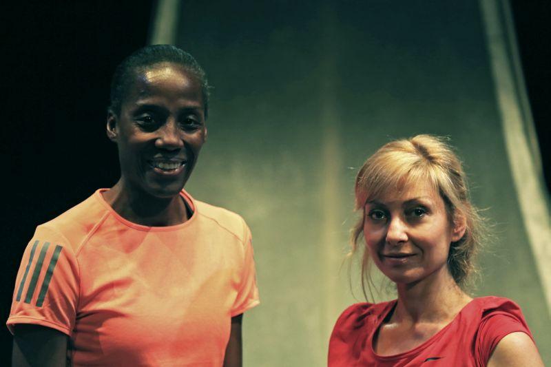 "Fiona May e Luisa Cattaneo in ""Maratona di New York"""