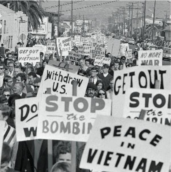 USA. Protesta contro la guerra del Vietnam
