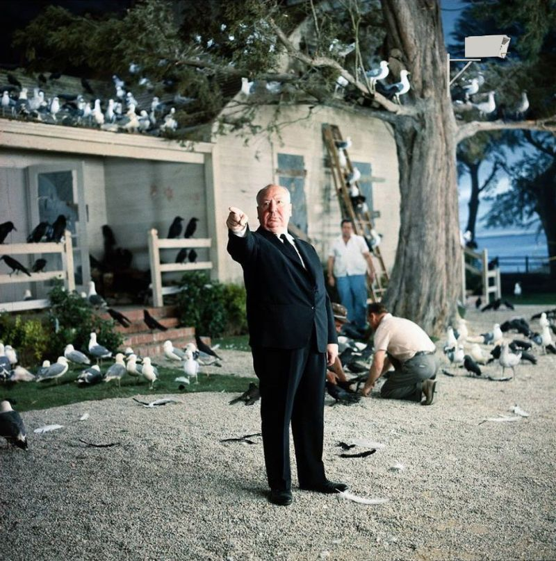 Alfred Hitchcock sul set