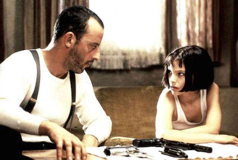 "Jean Reno e Natalie Portman in ""Léon"""