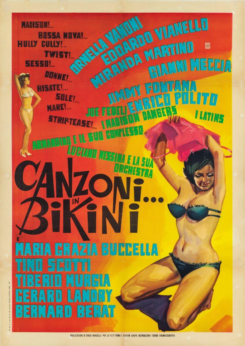 Canzoni… in bikini, 1963 Regia Giuseppe Vari, manifesto cm 140x100
