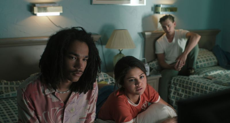 Luka Sabbat, Selena Gomez e Austin Butler - Credit : Frederick Elmes / Focus Features © 2019 Image Eleven Productions, Inc.