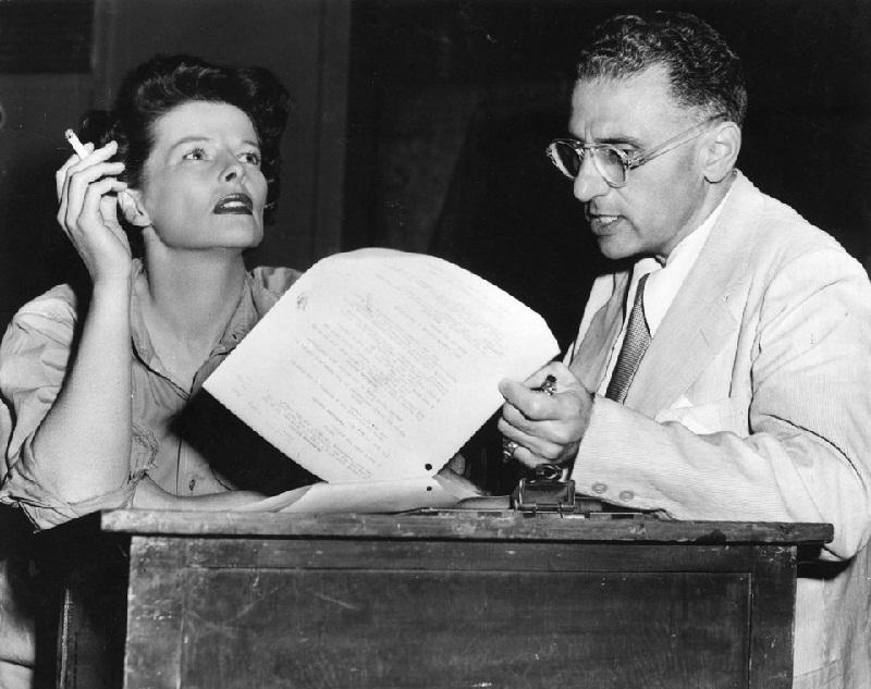 Katharine Hepburn con George Cukor