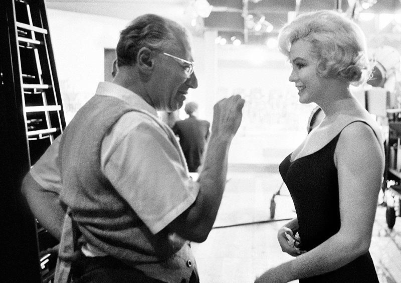 Geoerge Cukor con Marilyn Monroe