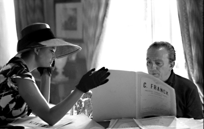 Claudia Cardinale con Luchino Visconti