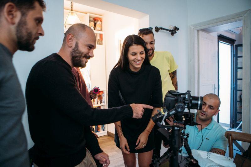 Carolina sul set del video