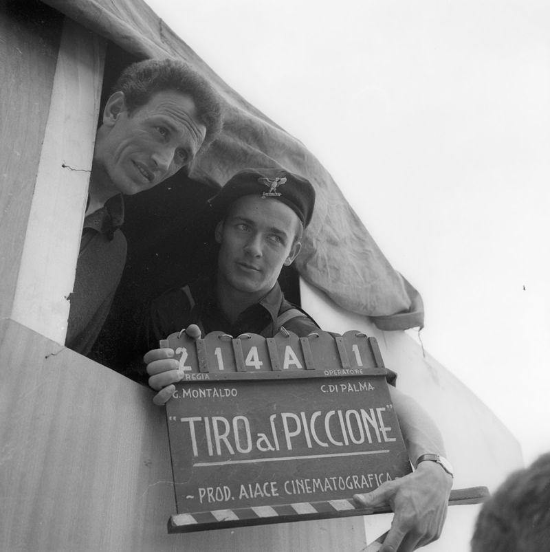 Dal set di Tiro al piccione di Giuliano Montaldo. Archivio fotografico della Cineteca Nazionale - Centro Sperimentale di Cinematografia, Roma