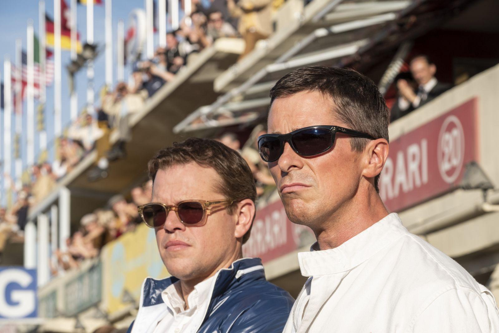 Matt Damon and Christian Bale in Twentieth Century FoxÕs FORD V. FERRARI.