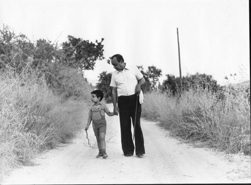 Fabrizio Catalano con suo nonno Leonardo Sciascia