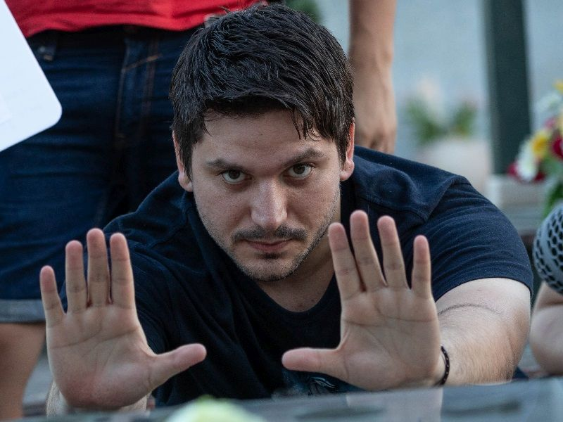 Roberto D'Antona sul set (foto di Daniele Ciceri)