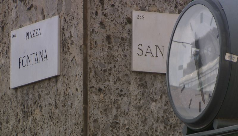 L'orologio di Piazza Fontana