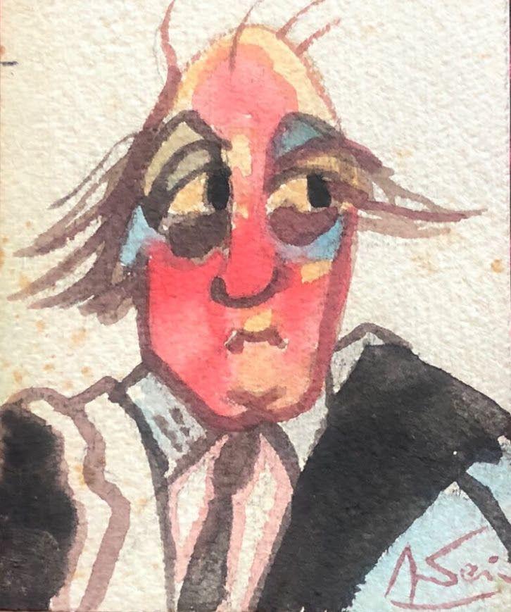 """""""Fellini Degli Spiriti"""" (Autoritratto Federico Fellini - @Archivio Terzi - Luchetti)"""