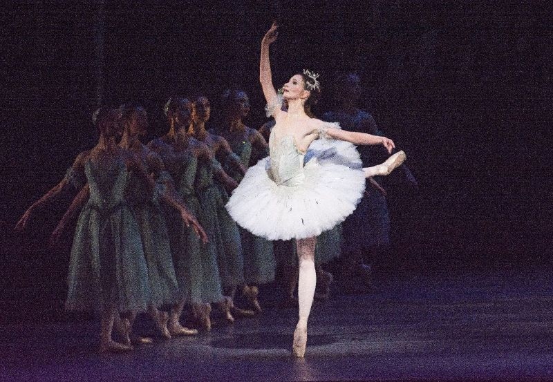 Lauren Cuthbertson as Princess Aurora in The Royal Ballet production of The Sleeping Beauty (2006), choreographed by Frederick Ashton (1904-1988), Anthony Dowell and Christopher Wheeldon after Marius Petipa (1818-1910), to music by Pyotr Il'yich Tchaikovsky (1840-1893), based on designs by Oliver Messel (1904-1978). Performed at the Royal Opera House, Covent Garden on 22 February 2014 ***ARPDATA*** THE SLEEPING BEAUTY ; Music by Tchaikovsky ; Choreography by Petipa ; Lauren Cuthbertson (as Princess Aurora) ; The Royal Ballet ; At the Royal Opera House, London, UK ; 22 February 2014 ; Credit: Tristram Kenton / Royal Opera House / ArenaPAL
