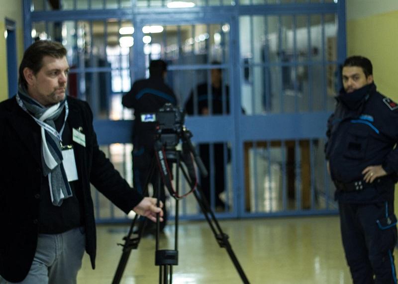 """Ambrogio Crespi durante le riprese di """"Spes Contra Spem"""""""