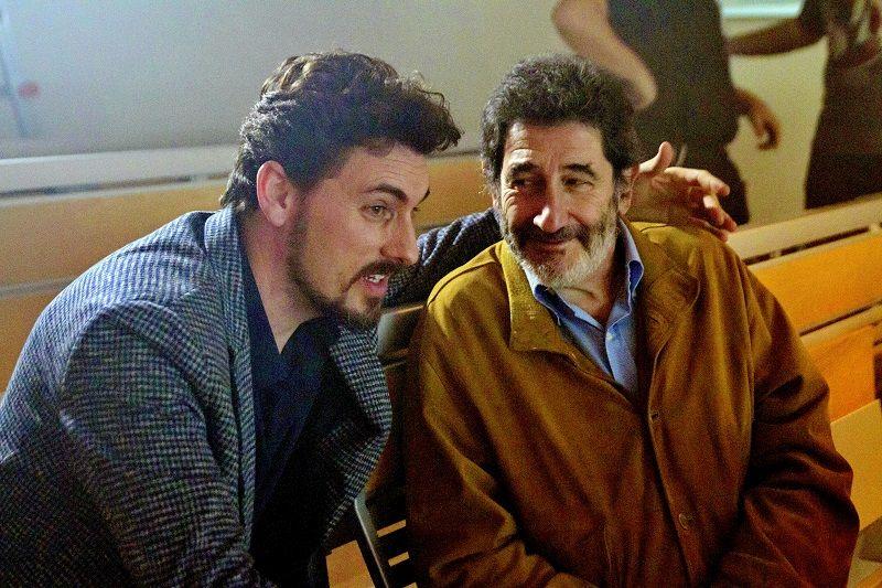 """Giuseppe Di Giorgio sul set con Paolo Gaetani, l'autore del romanzo """"Stem Cell"""""""