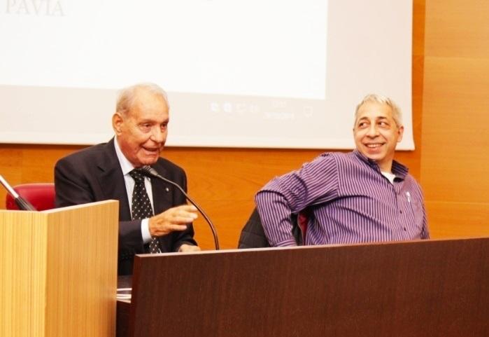 """Il Generale Franco Angioni con Franco Bettolini durante una presentazione del libro """"Postazione 23"""""""