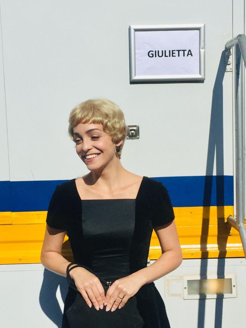 """Martina Galletta sul set di """"Permette? Alberto Sordi"""""""