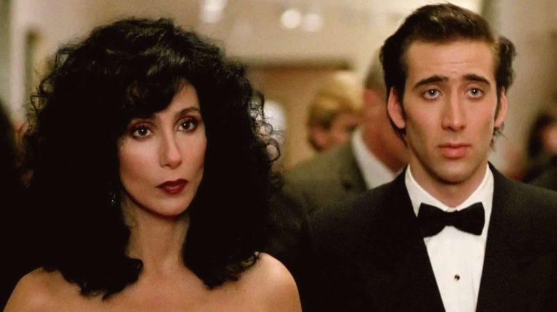 """Con Nicolas Cage in """"Stregata Dalla Luna"""""""