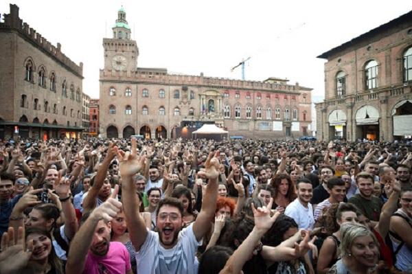 Bologna 12 giugno 2018 - Concerto in Piazza Maggiore de Lo Stato Sociale