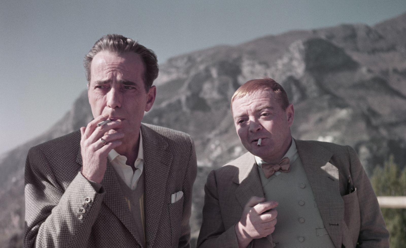 Humphrey Bogart e Peter Lorre sul set di Il Tesoro dell_Africa_Aprile 1953_Credits Robert Capa International Center of Photography Magnum Photos