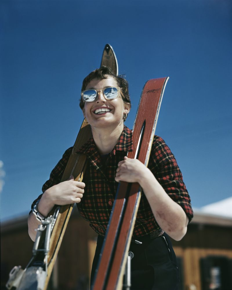 L'americana Judith Stanton, Zermatt, Svizzera_1949-50_Credits Robert Capa International Center of Photography Magnum Photos