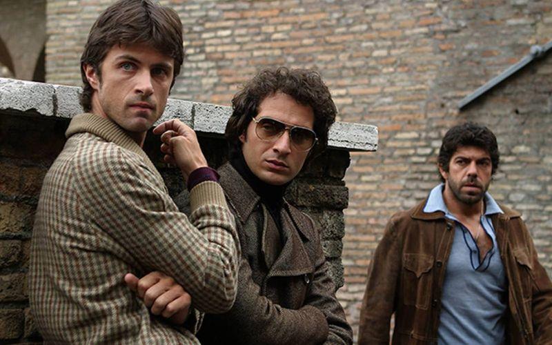 Kim Rossi Stuart (il Freddo), Claudio Santamaria (il Dandi) e Pierfrancesco Favino (il Libanese)