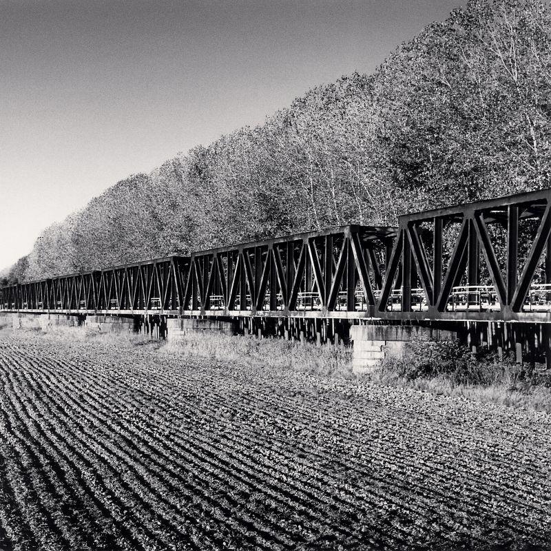 Michael Kenna - Railway Bridge Approach, Mezzano Rondani, Colorno, Parma, Italy. 2017