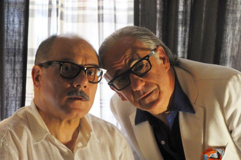 """SET DEL FILM """"LA GRANDE BELLEZZA"""" DI PAOLO SORRENTINO. NELLA FOTO TONI SERVILLO E CARLO VERDONE. FOTO DI GIANNI FIORITO"""
