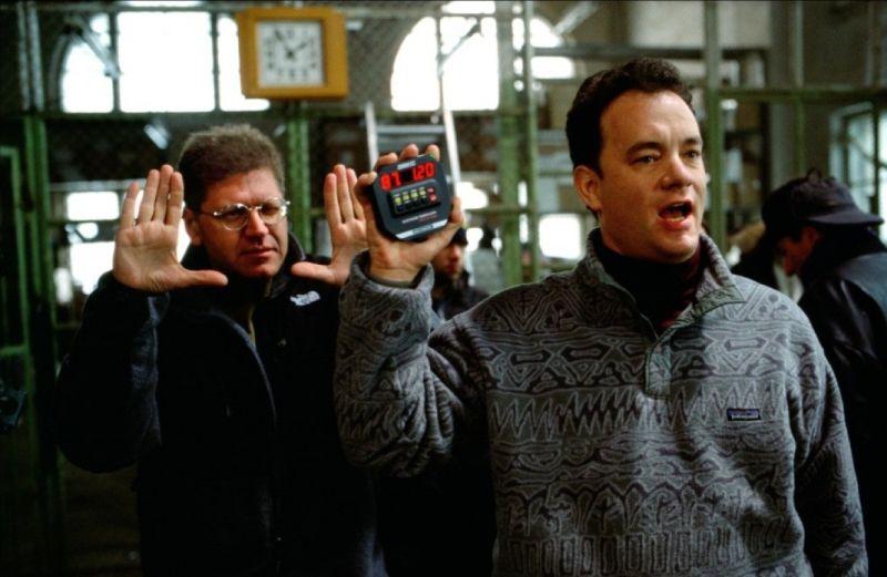 "Robert Zemeckis e Tom Hanks sul set di ""Cast Away"""