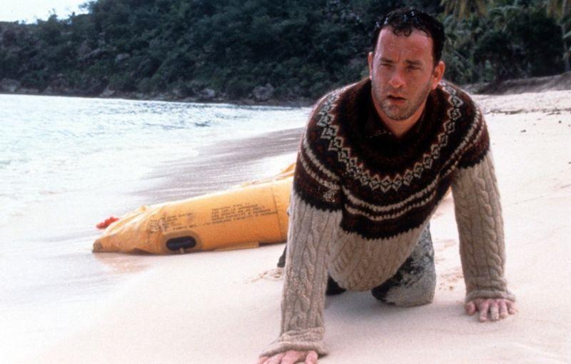 Tom Hanks come Robinson Crusoe