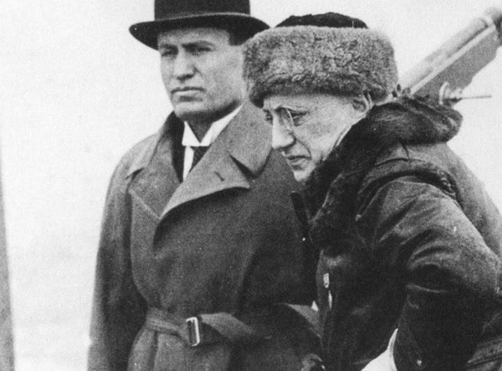 Benito Mussolini e Gabriele D'Annunzio