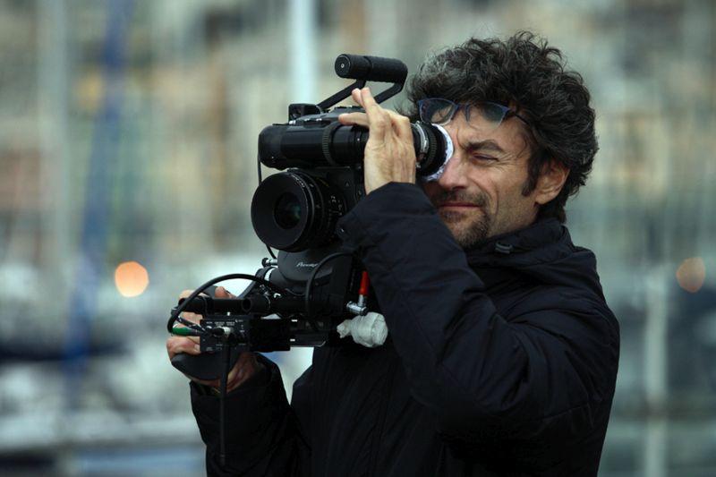 """Il regista Silvio Soldini durante le riprese de """"Il Comandante e la Cicogna"""" (2012)"""