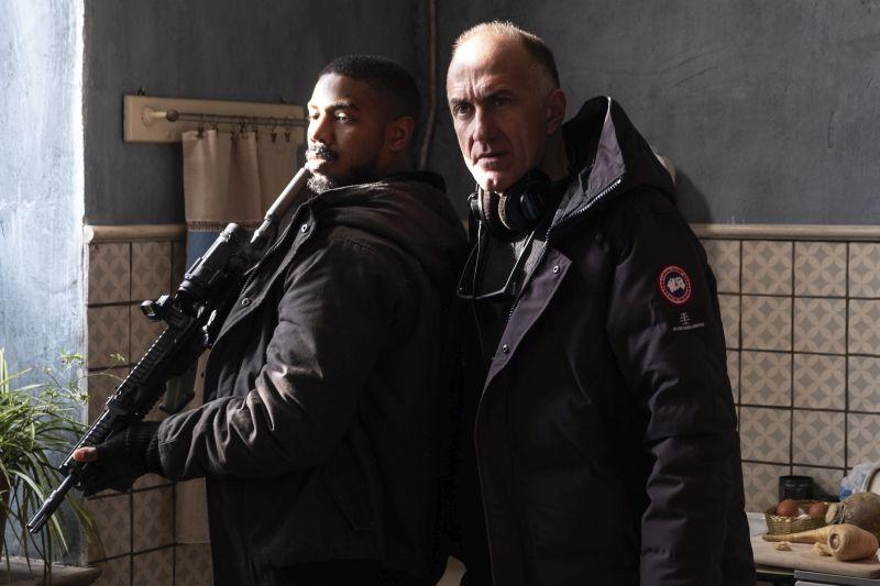 Michael B. Jordan e Stefano Sollima (Photo: Nadja Klier © 2020 Paramount Pictures)