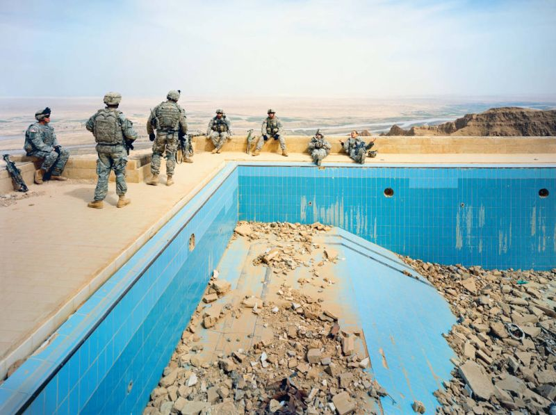 © Richard Mosse Pool at Uday's Palace, Salah-a-Din Province, Iraq, 2009 Courtesy of the artist and Jack Shainman Gallery, New York