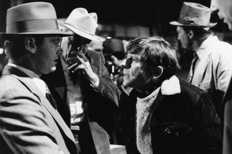 Roman Polanski sul set con Jack Nicholson