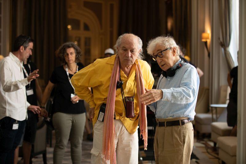 Woody Allen sul set con Vittorio Storaro