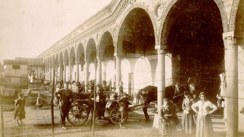 Foto storica dei Lazzaretto abitato dai primi migranti italiani