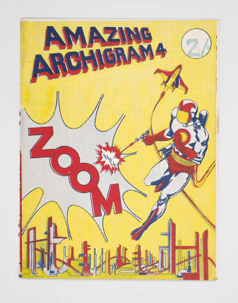 «Archigram» 1964 numero 4 della rivista diretta da Peter Cook a Londra testo a stampa 22 × 17 cm Milano, Collezione Italo Rota