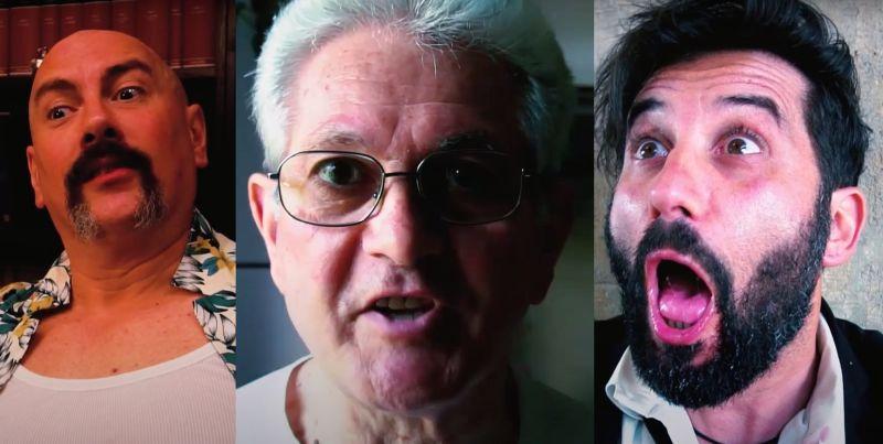 Tre star del film con le loro mirabolanti espressioni