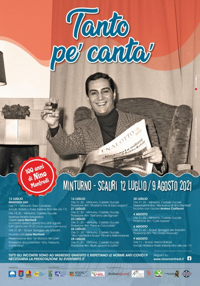Manifesto Nino Manfredi Minturno