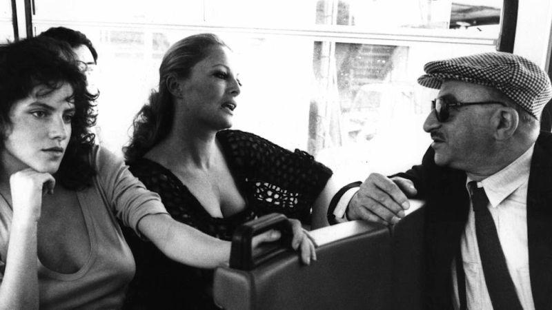 """Lattuada sul set del film """"La Cicala"""", con Virna Lisi e Clio Goldsmith"""
