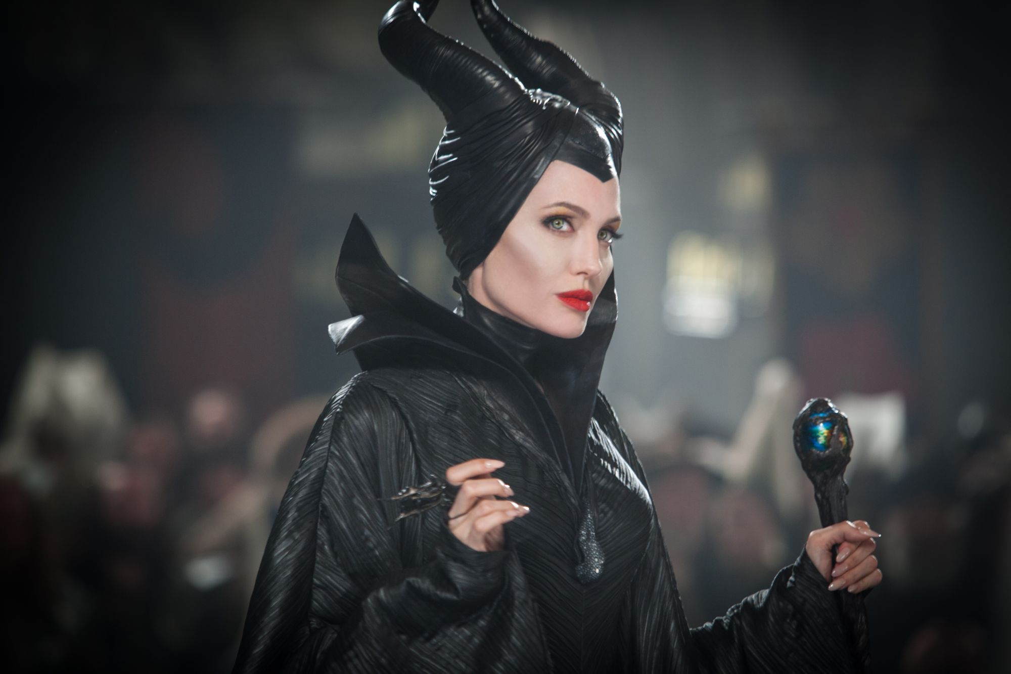 """""""MALEFICENT""""  Maleficent (Angelina Jolie)  Photo Credit: Frank Connor  ©Disney Enterprises, Inc.  All Rights Reserved."""