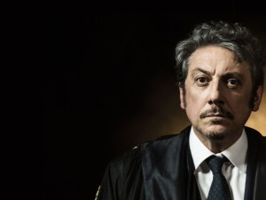 """Sergio Castellitto durante una scena del film """"La Buca"""", regia di Daniele CiprìRoma-Svizzera 2013-2014"""